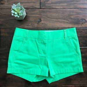 J. Crew Mint Green Chino Shorts